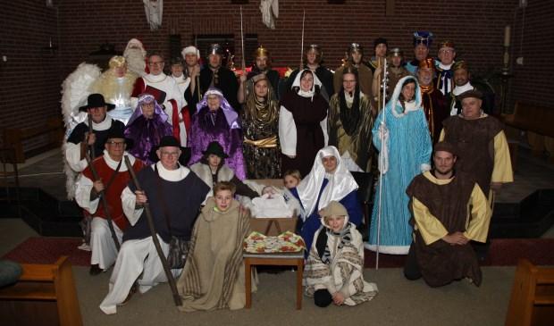 De levende kerstttocht trekt door Gennep-zuid