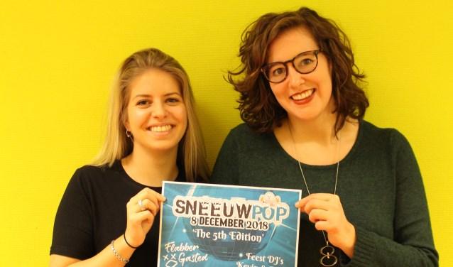Milou van den Hurk en Eva Verhagen zitten allebei in de organisatie van Sneeuwpop.
