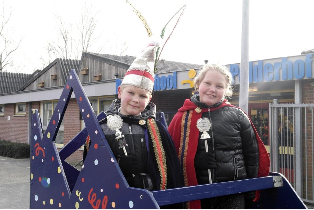 Prins en prinses van school de Polderhof. (Foto: Maik Rovers)  © Kliknieuws Oss