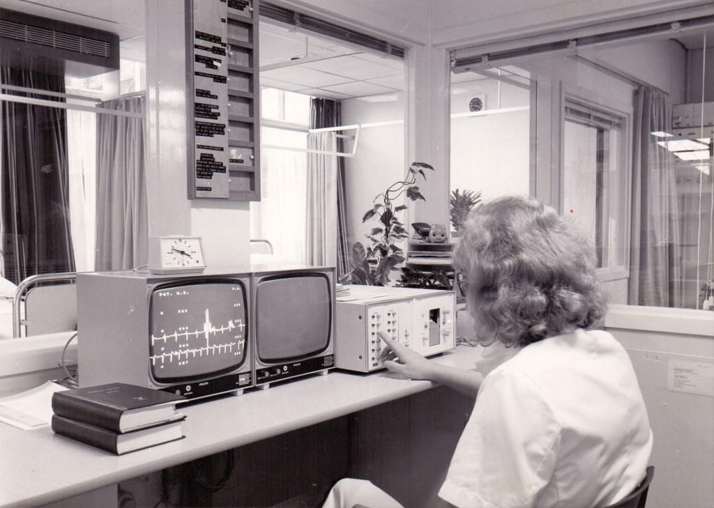 1978: Centrale balie Intensive Care in barak uit 1971  © Kliknieuws Veghel