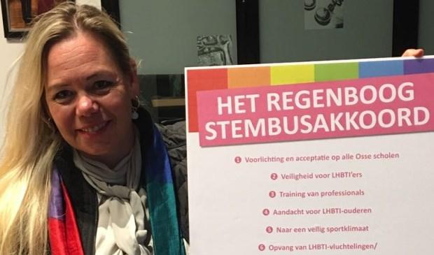 De ondertekenaars van het Regenboog Stembusakkoord zullen zich inspannen om maatregelen op het gebied van LHBTI-emancipatie in de komende raadsperiode uit te voeren.