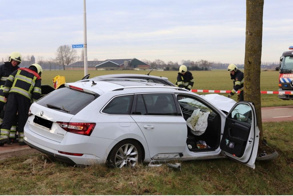 Ongeval Geffen. (Foto: Maickel Keijzers / Hendriks Multimedia)  © 112 Brabantnieuws