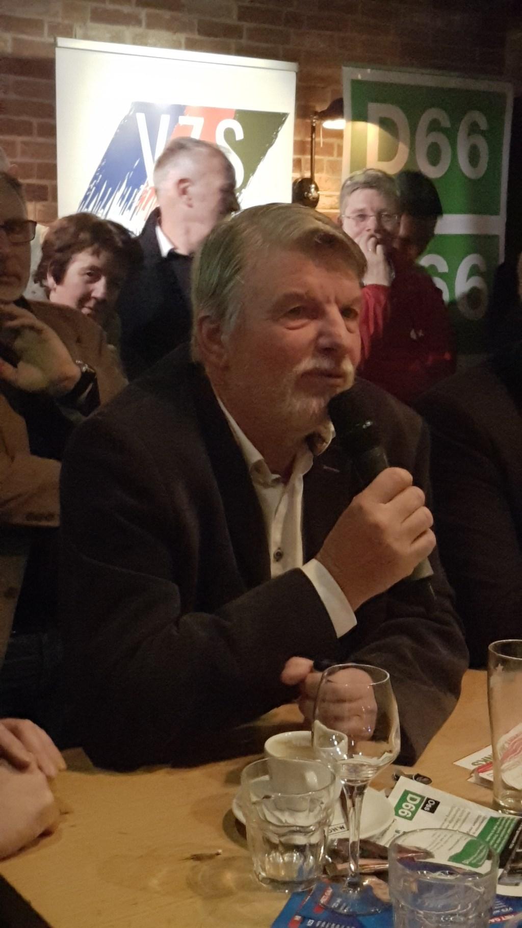 Frans Molenkamp, lijsttrekker D66 Oss.  © Kliknieuws Oss