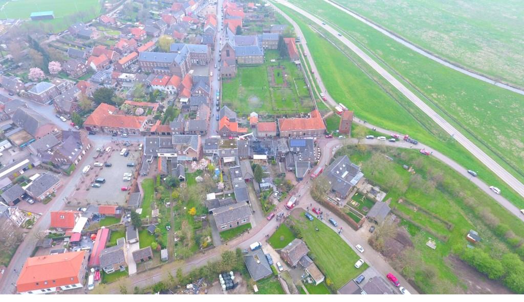 Luchtfoto van Megen. (Rowan van Boxtel)