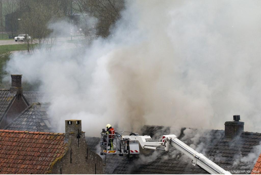 Brand in Megen (Foto: Gerard Beck)  © 112 Brabantnieuws