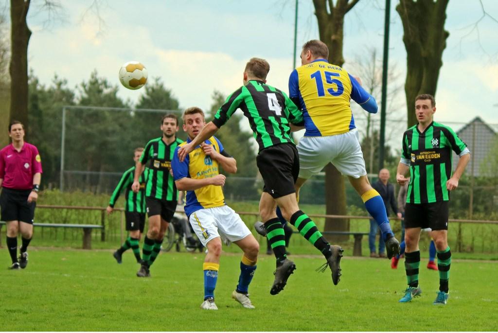 Hapse Boys verloor van Berghem Sport. (Foto: Jo van Herpen)  © Kliknieuws De Maas Driehoek
