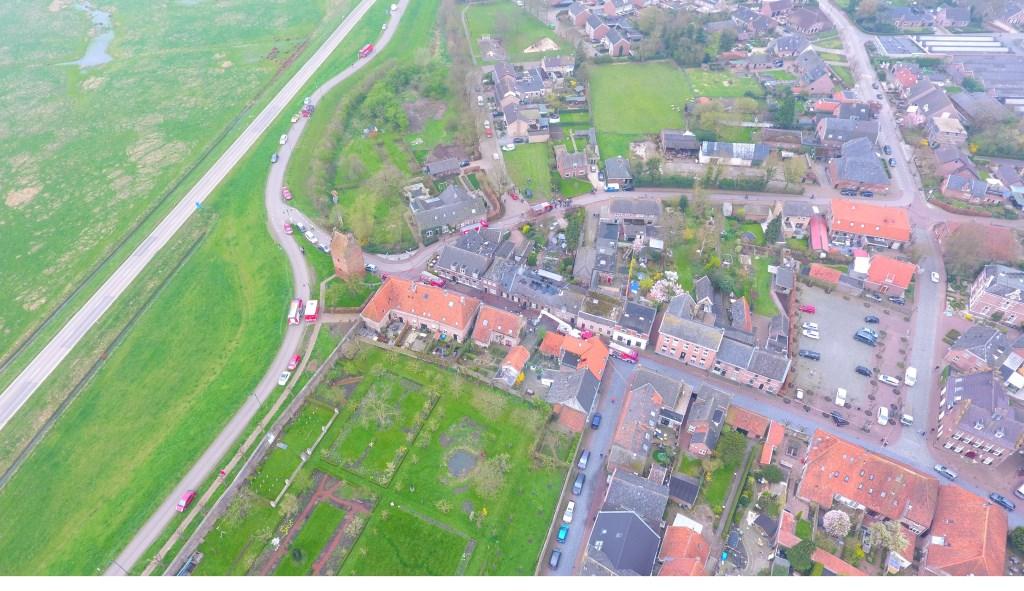 Luchtfoto van Megen. (Rowan van Boxtel)  © 112 Brabantnieuws