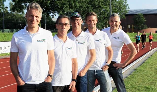 Jeroen Ulijn, Jos Pansier, Ruud Vermeulen, Pieter van Lent en Paul van den Heuvel.Niet op de foto: Meindert Kuipers.