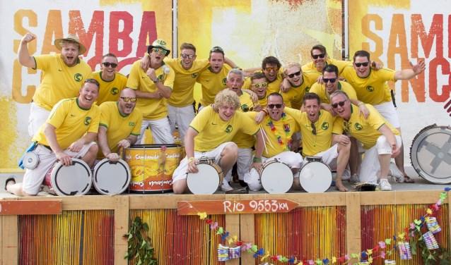 De percussiegroep Sambanda uit Boekel
