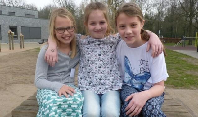 V.l.n.r.: Demi Kersten, Renske van Dinten en Emma van Mil.