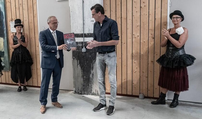 Jan Goijaarts en Stefan van de Ven tijdens jubileum van de Noordkade.
