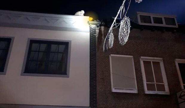 Inbrekers op het dak.
