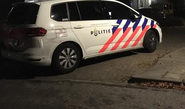 De politie bij één van de plekken waar een overval werd gepleegd.