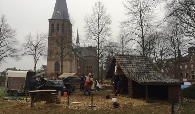 De kerststal in Sint Anthonis wordt weer opgeborgen.