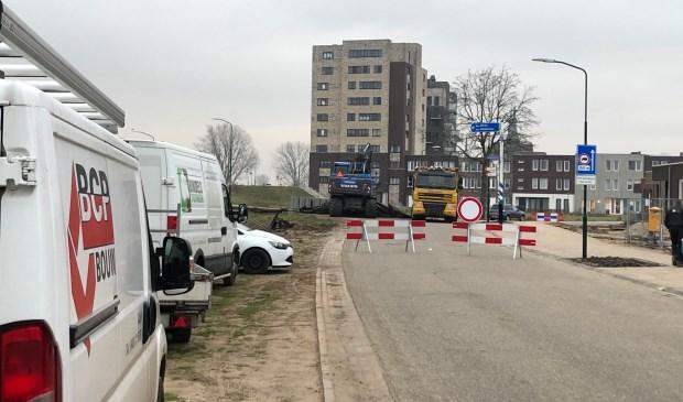 De Maasboulevard in Cuijk is tijdelijk afgesloten.