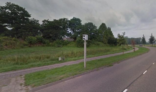 De beruchte flitspaal in Erp (Bron: Google Maps).