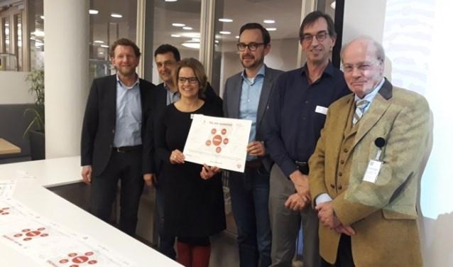 v.l.n.r. Marcel Schenkels, Max Rubens, Petra van Pol, Niek Haenen, Dan Hoevenaars, Marcel Grosfeld
