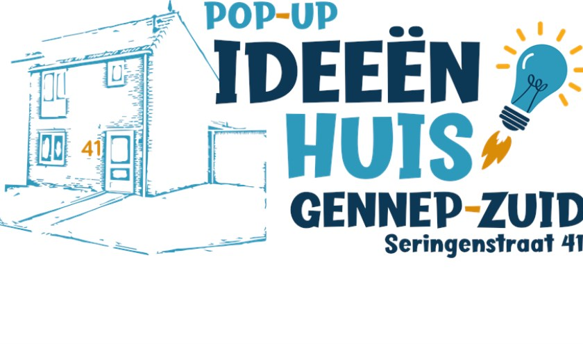 In Gennep-Zuid wordt een pand tijdelijk omgedoopt tot Ideeënhuis.