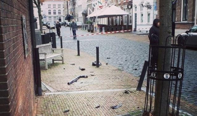 Ravage in centrum Ravenstein. (Foto: Facebook politie Oss)