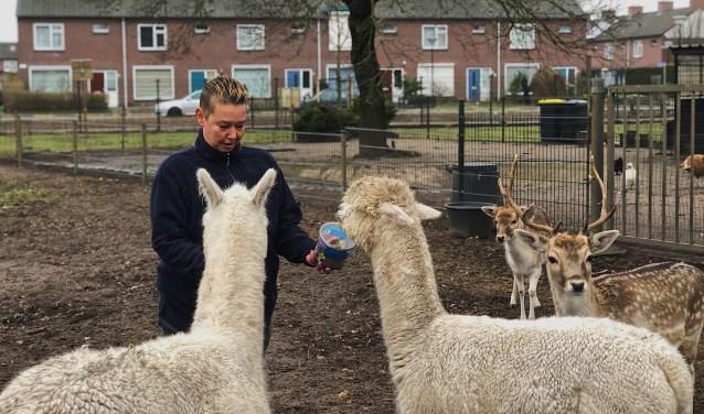 Jolanda Burger is de drijvende kracht achter het dierenparkje in Veghel-Zuid.
