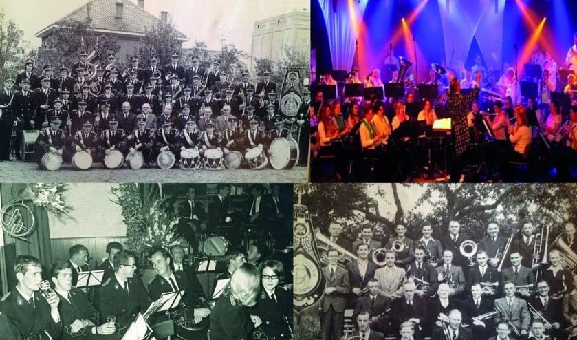 Muziekvereniging Sint Cecilia uit Sint Anthonis door de jaren heen. (foto's: Sint Cecilia)