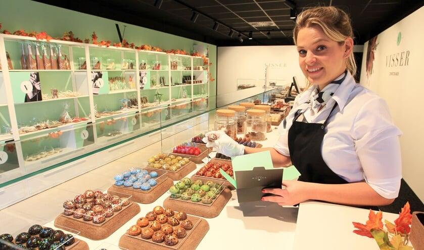 Melissa van Dinther bij Visser Chocolade Oss.