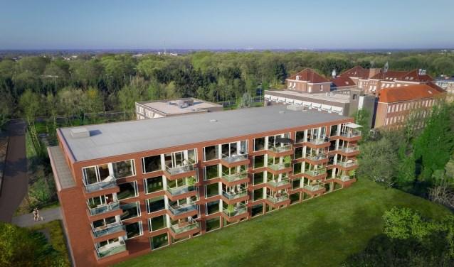 In het appartementencomplex zijn acht verschillende woningtypen