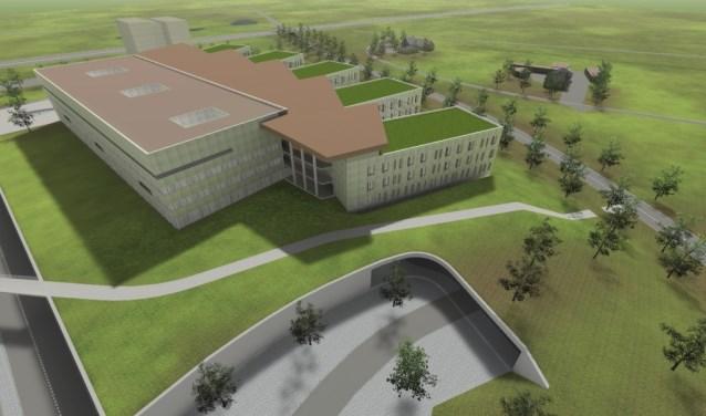 Impressie van het Hansa-ziekenhuis op de Health Campus.