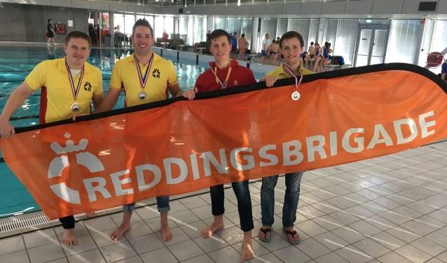 Frank van der Wijst, Jeffrey van der Putten, Jasper Kop en Niels Kop. (Foto: Reddingsbrigade Oss)