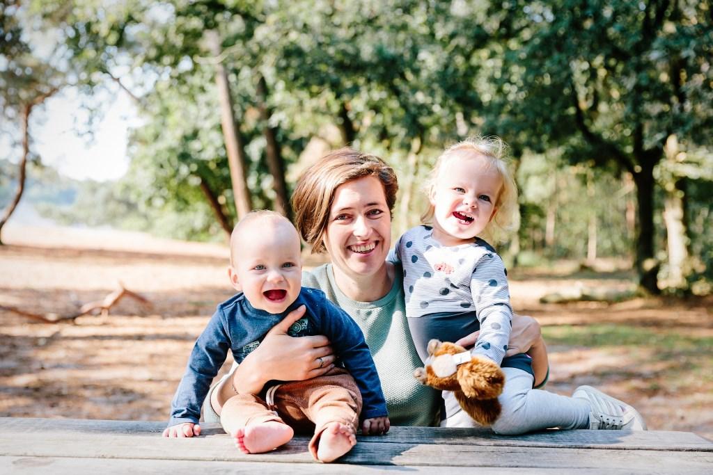 Anke met zoon Timo en dochter Robin.