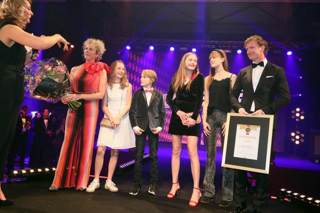 Joep Kemkens en zijn gezin. (Foto: Hans van der Poel) Foto: Hans van der Poel © Kliknieuws Oss