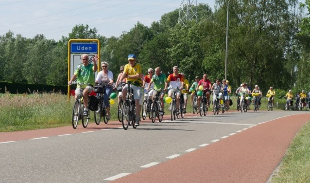 Lekker fietsweer tijdens Trap-in vorig jaar (foto: Nicole Jansen)