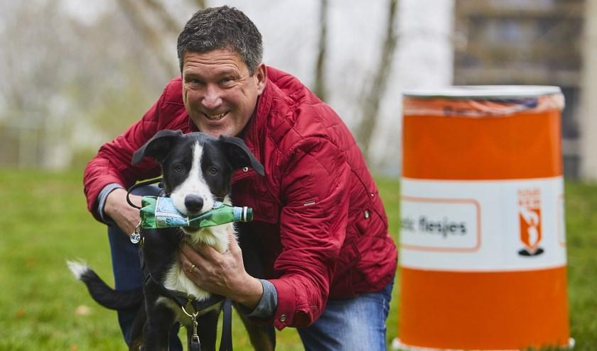 Honden maken Julianapark in Veghel zwerfafvalvrij (Foto: Martin Hols).