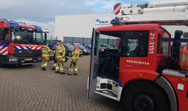 Brandweer in de Osse Rijnstraat.