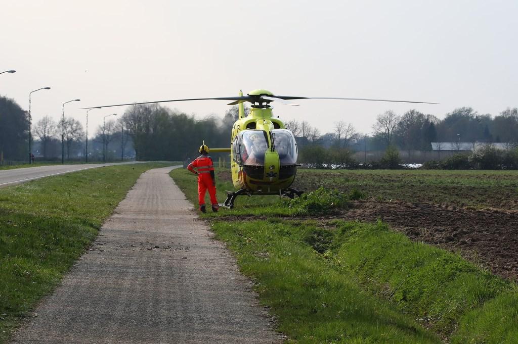 De traumahelikopter werd opgeroepen. (Foto: Charles Mallo / Foto Mallo) Charles Mallo/Foto Mallo © 112 Brabantnieuws