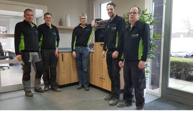 Hay Linders, Clif Rothof, Ton Weren, Tom van der Hulst, Theo Schaap.