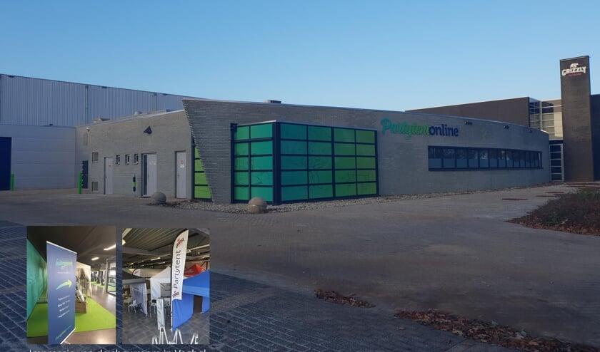 De nieuwe locatie van Partytent-Online in Veghel.