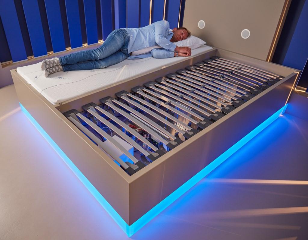 De slaaptest kun je uitproberen bij Morgana de Best-Noy in Boxmeer.  © Kliknieuws De Maas Driehoek