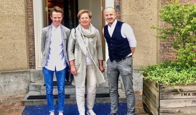 Ties van Dooren, Coby van der Pas en Thijs Swinkels.   © Kliknieuws Veghel