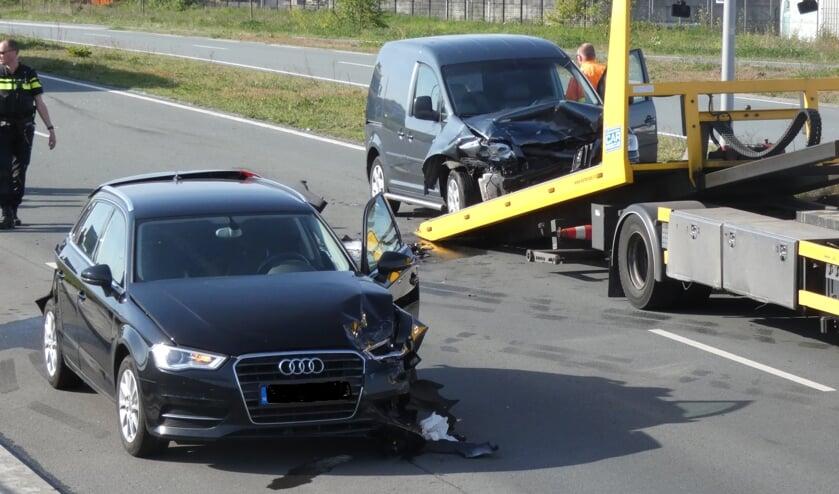 Ongeval op de Graafsebaan. (Foto: Thomas)