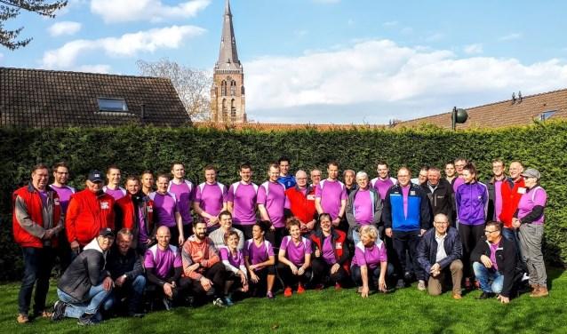 Een deel van de groep van Stichting Berghem tegen Kanker.