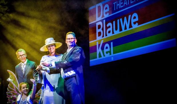 Koningin Máxima opende in september 2018 De Blauwe Kei op de Noordkade. Uiterst links staat Harry Vermeulen.