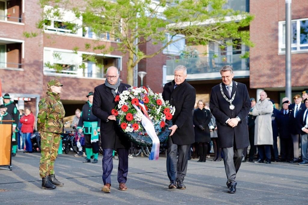 Dodenherdenking in Cuijk. (foto: Karel ten Haaf)