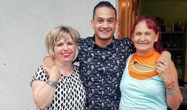 Kevin met zijn moeders