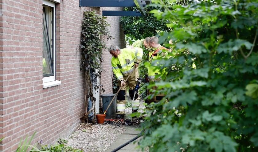 Bij een brand aan de Ribes in Boxmeer is een woning beschadigd geraakt.
