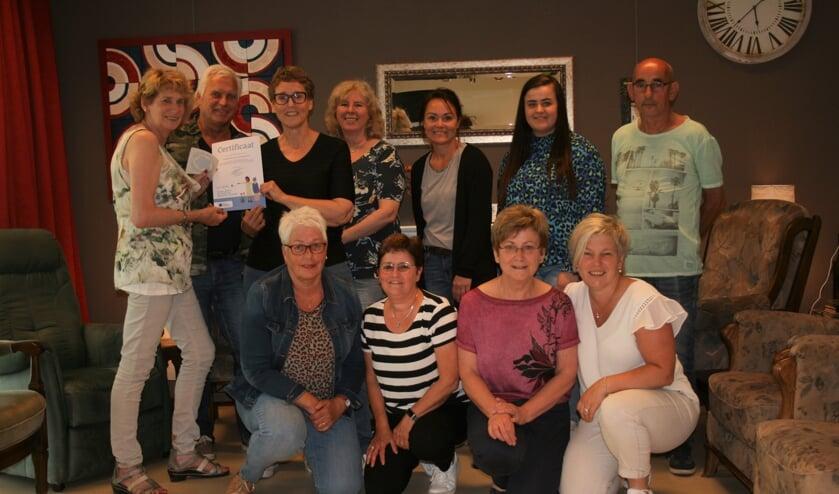 Dagbesteding De Huuskamer heeft de erkenning 'Samen dementievriendelijk' ontvangen.