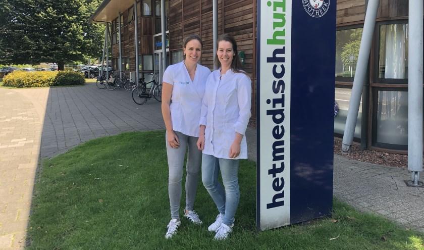 Sharon Pijnenborg (L) neemt Huidplus Veghel over van Inge van Uden (R), de locatie blijft hetzelfde en de behandelmethodes ook.