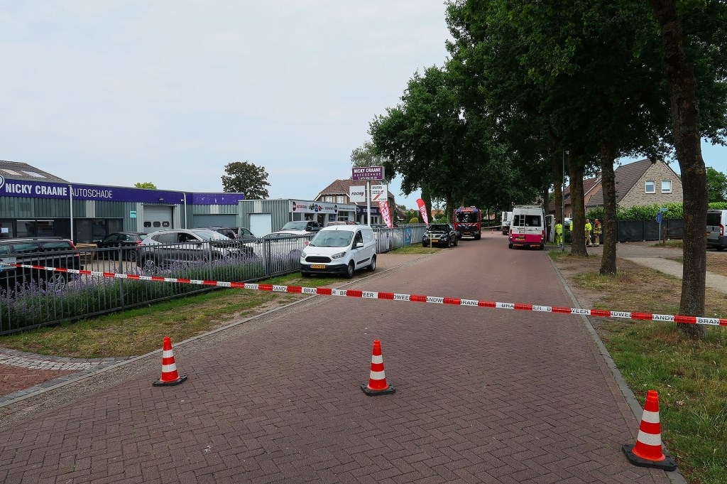 Gaslek in Geffen. (Foto: Gabor Heeres / Foto Mallo)  © 112 Brabantnieuws