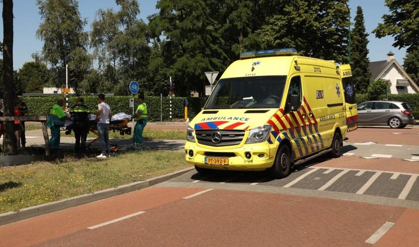 Gewonde bij ongeval in Heesch. (Foto: Gabor Heeres / Foto Mallo)