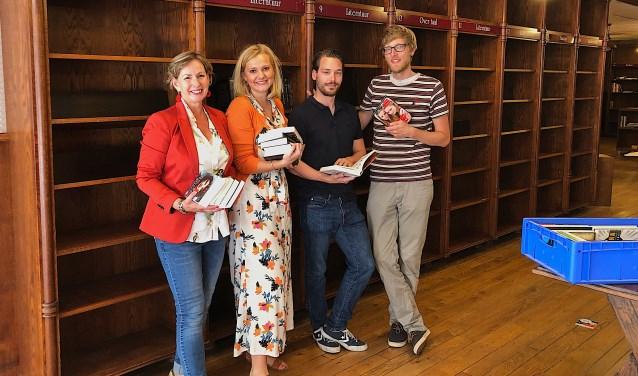 Taaldocenten Jolanda van den Biggelaar, Irene Jansen, Vince Klösters en Twan van de Wetering.
